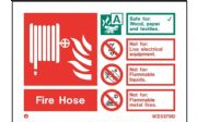 W6375ID - FIRE HOSE EXTINGUISHER IDENTIFICATION SIGN.